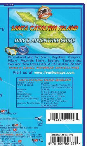 Santa Catalina Island Dive & Adventure Map - Frankos Maps