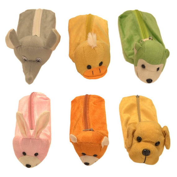 Pencil Character Pouch (Any 3 in 1 ) 11 Inches- Assorted