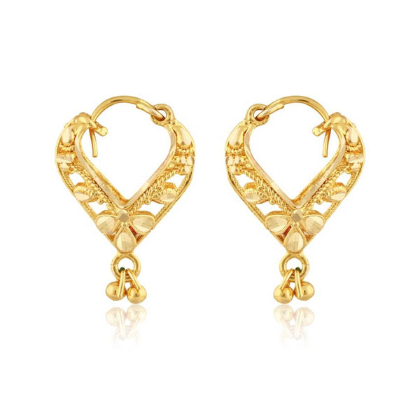 Traditional Bucket Bali Alloy Gold and Micron Plated Earring