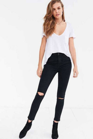 Women Black Designer Denim Jeans