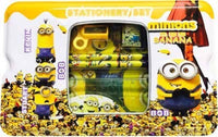 Cute Cartoon Character Minions Metal Pencil Box Case with Complete Stationary Set for Kids (5630293377185)