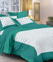 Cotton Printed Double Bedsheet With 2 Pillow Cover (5630600970401)