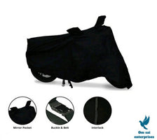 Essential Black Polyester Dust And Waterproof Bike Body Cover For Hero Xpluse 200