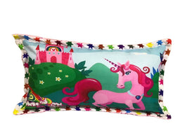Comfy Multicoloured Velvet Pillow For Kids