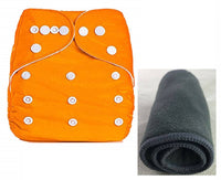 Baby's All in One Washable Reusable Adjustable Cloth 1 Diapers with 1 Inserts (Assorted Colour) (6084321444001)