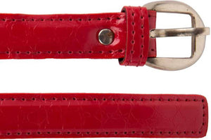 Girls Red Artificial Leather Belt
