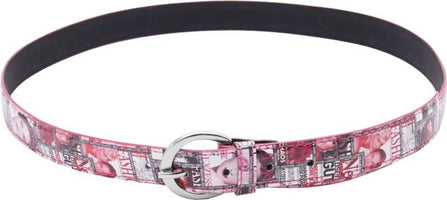 Girls Pink Artificial Leather Belt