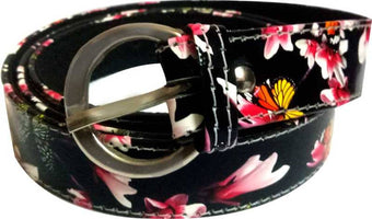 Girls Evening, Party, Formal, Casual Multicolor, Black, Pink Artificial Leather Belt