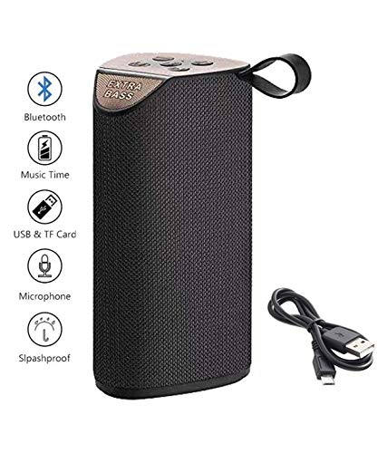 GT 111 Portable Wireless Bluetooth Speakers Mega Bass Splash Proof,USB,FM,TF Card and AUX Cable Pen Drive Supported (Multi Color)