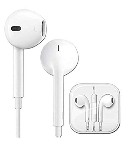 Egg White Headset/Earphones with Mic Compatible for mobilephones / 6s with 3.5mm Jack with Volume Button and Mic