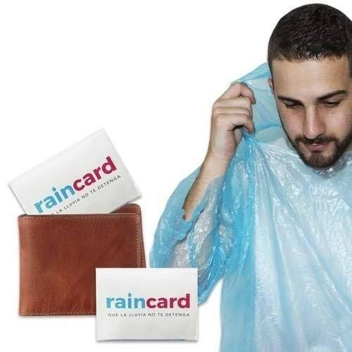 Raincard - The First Credit Card Sized Raincoat for Unisex Reusable - Rain Coat for Men, Women, Kids (Free Size) Pack Of 5