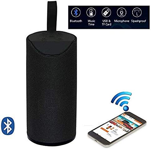 TG-113 Bluetooth Portable Stereo Speaker with Rich Bass | Loud Sound | Built-in Mic for All Smartphone Device (Assorted Colours)