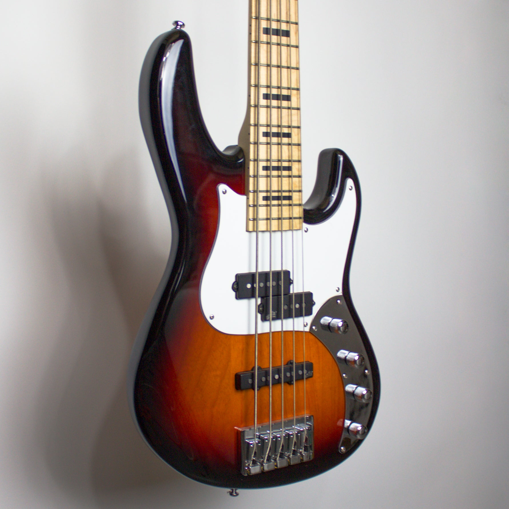 ZON Mosaic Mojo 5-String Bass Sunburst PJ Chrome Hardware
