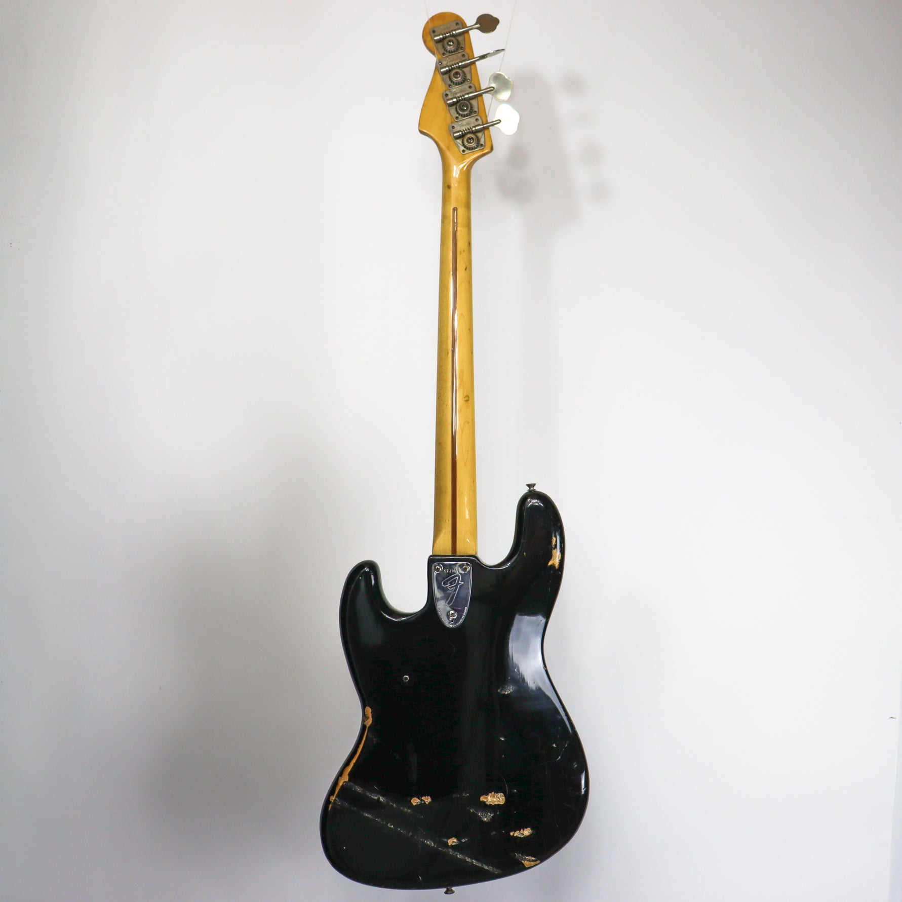 Fender 1975 Jazz Bass Black With Original Hardshell Case