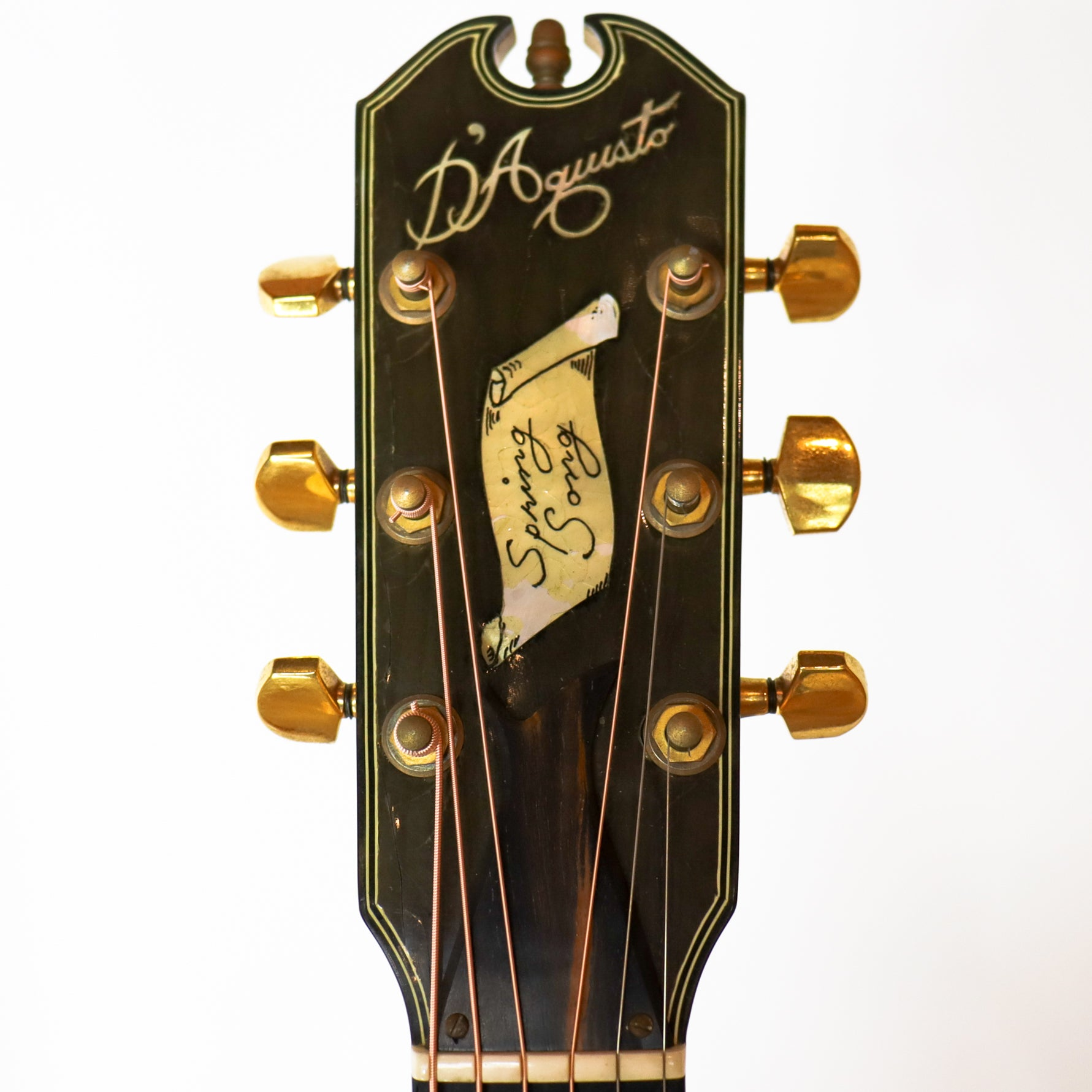 D'Aquisto 1981 Spring Song Flat Top SN# 112, made for Janis Ian
