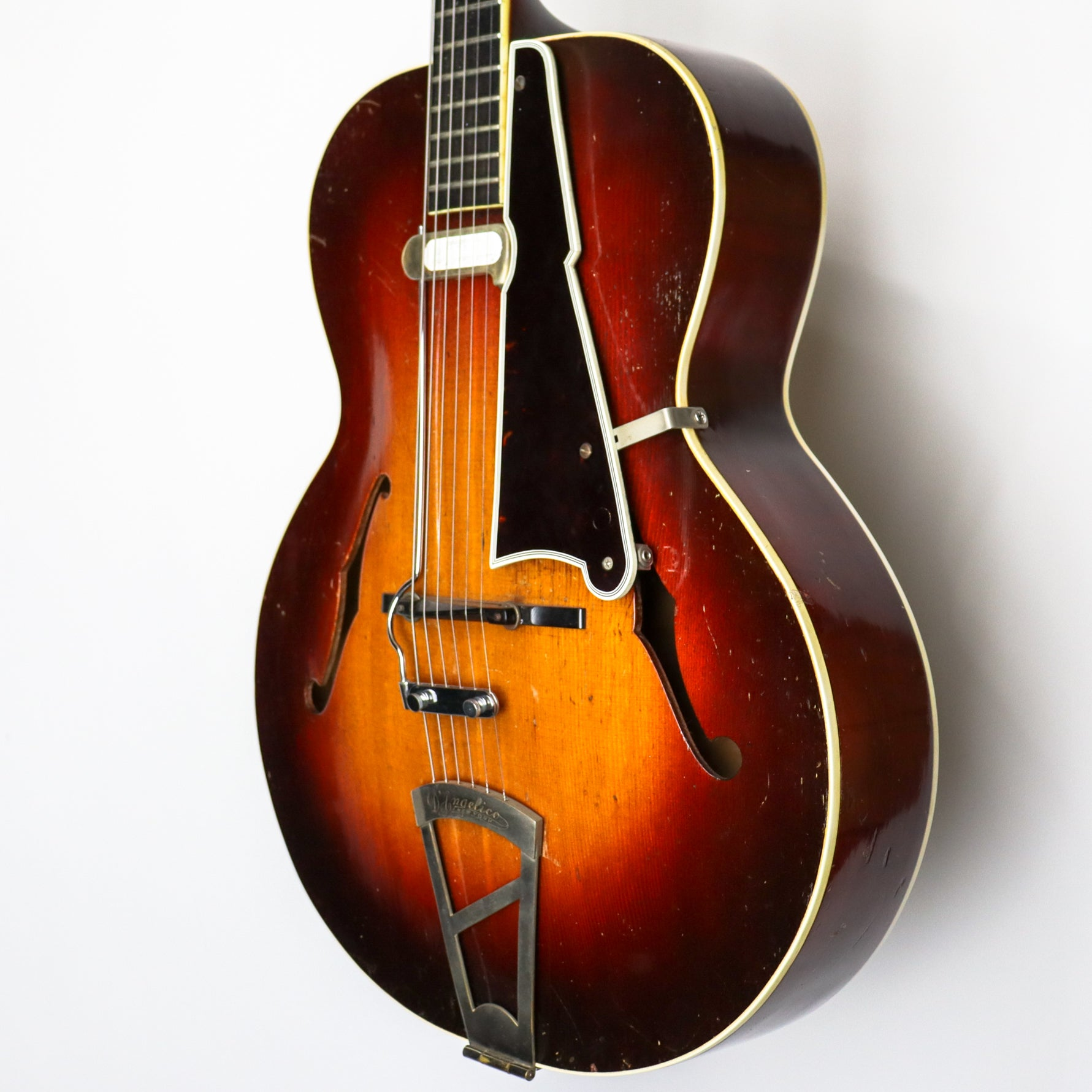 "D'Angelico 1940 A-1 Sunburst 16"" Archtop SN: #1484 with DeArmond Pickup"