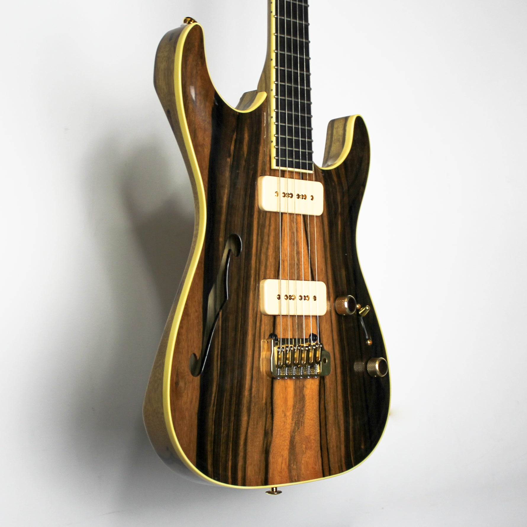 Pensa Rudy's 40th Anniversary MK-40 Macassar Ebony/Black Korina Thinline Natural 0802