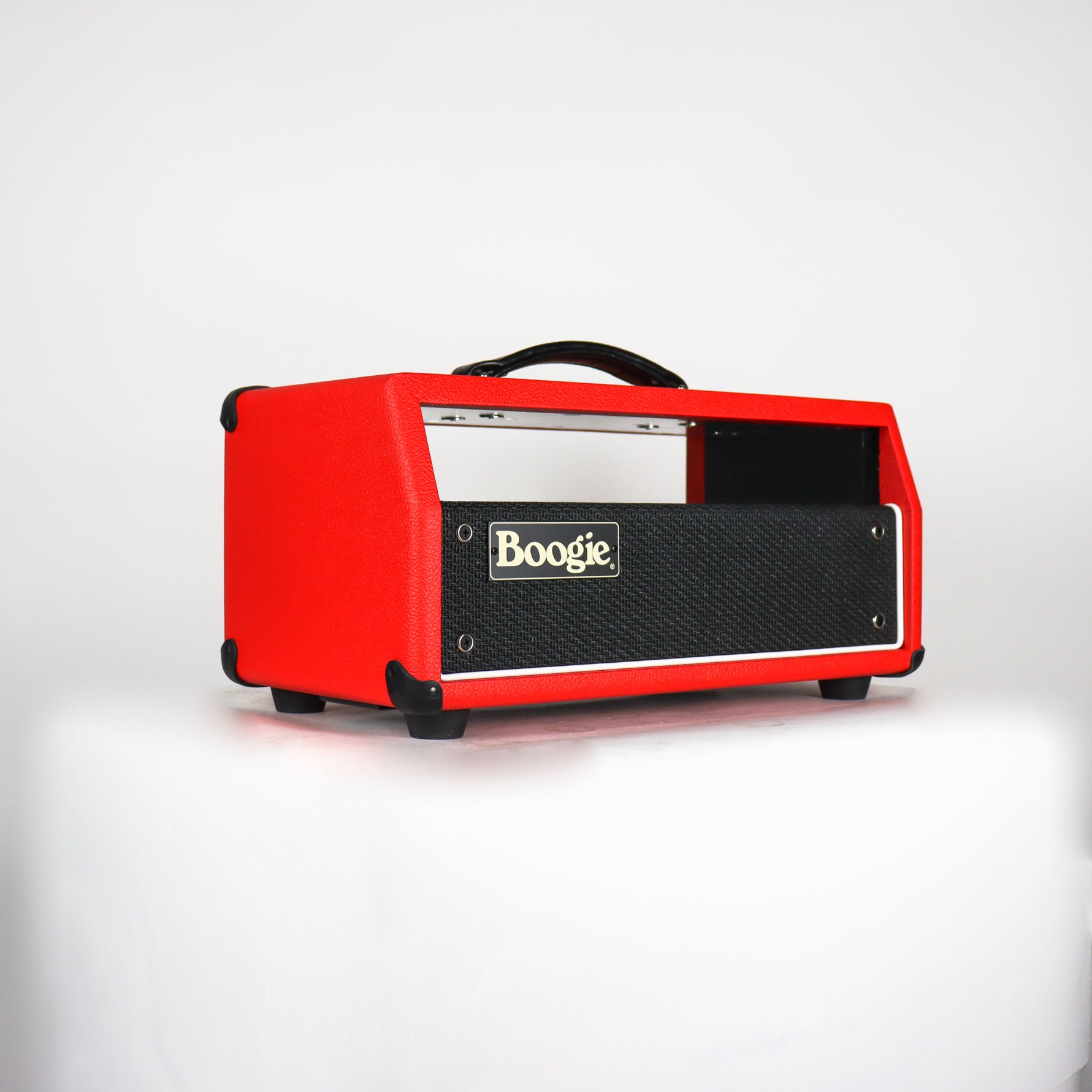 Mesa Boogie Mark I Reissue head chassis, red bronco vinyl, black grille, white piping