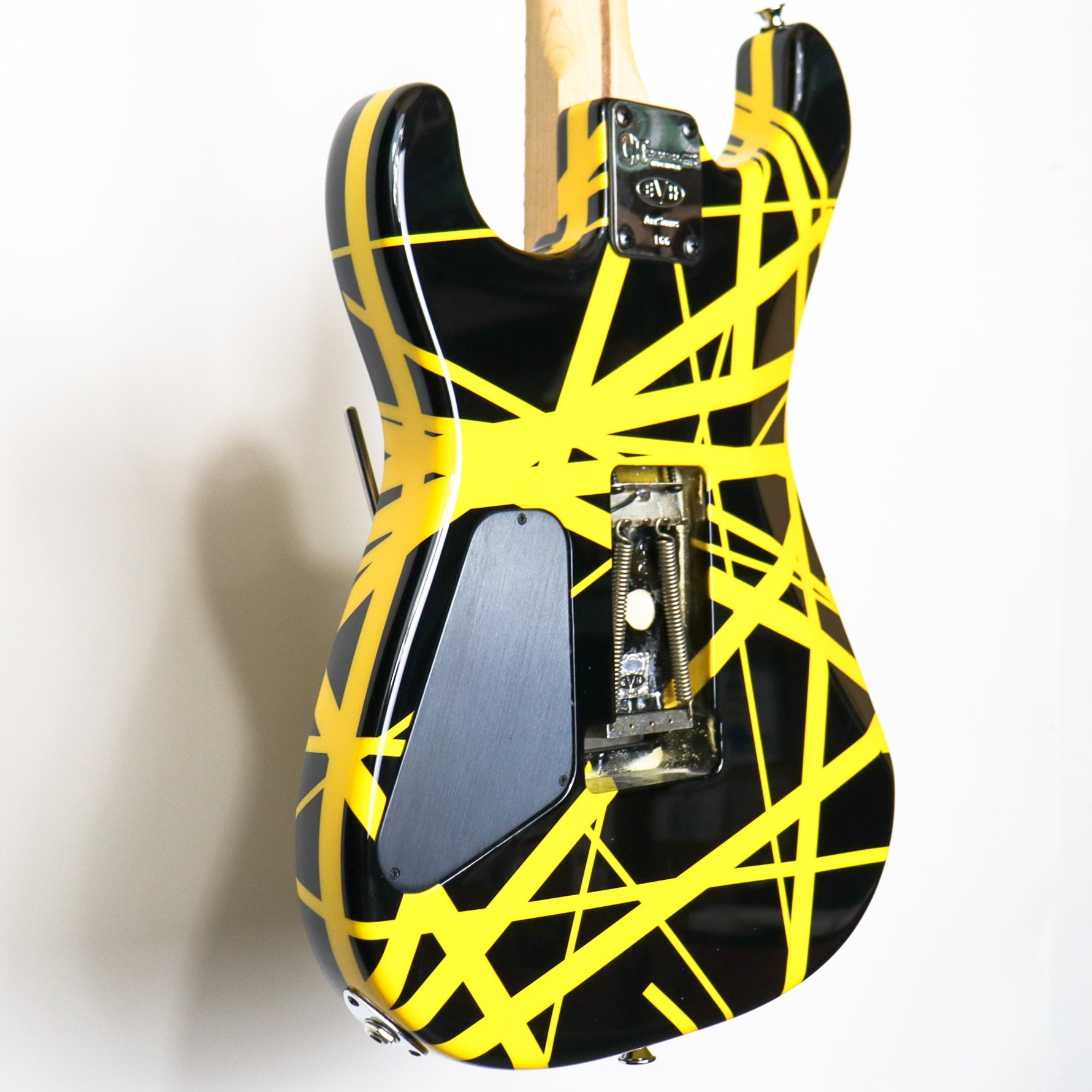 Charvel Bumble Bee #166 Signed and Played Live by Eddie Van Halen with Pictures and Case Candy