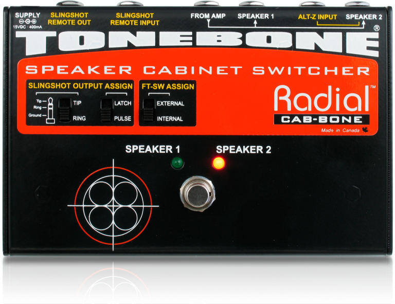 Radial Cabbone Speaker cabinet switcher for 100 Watt amps. PSU included