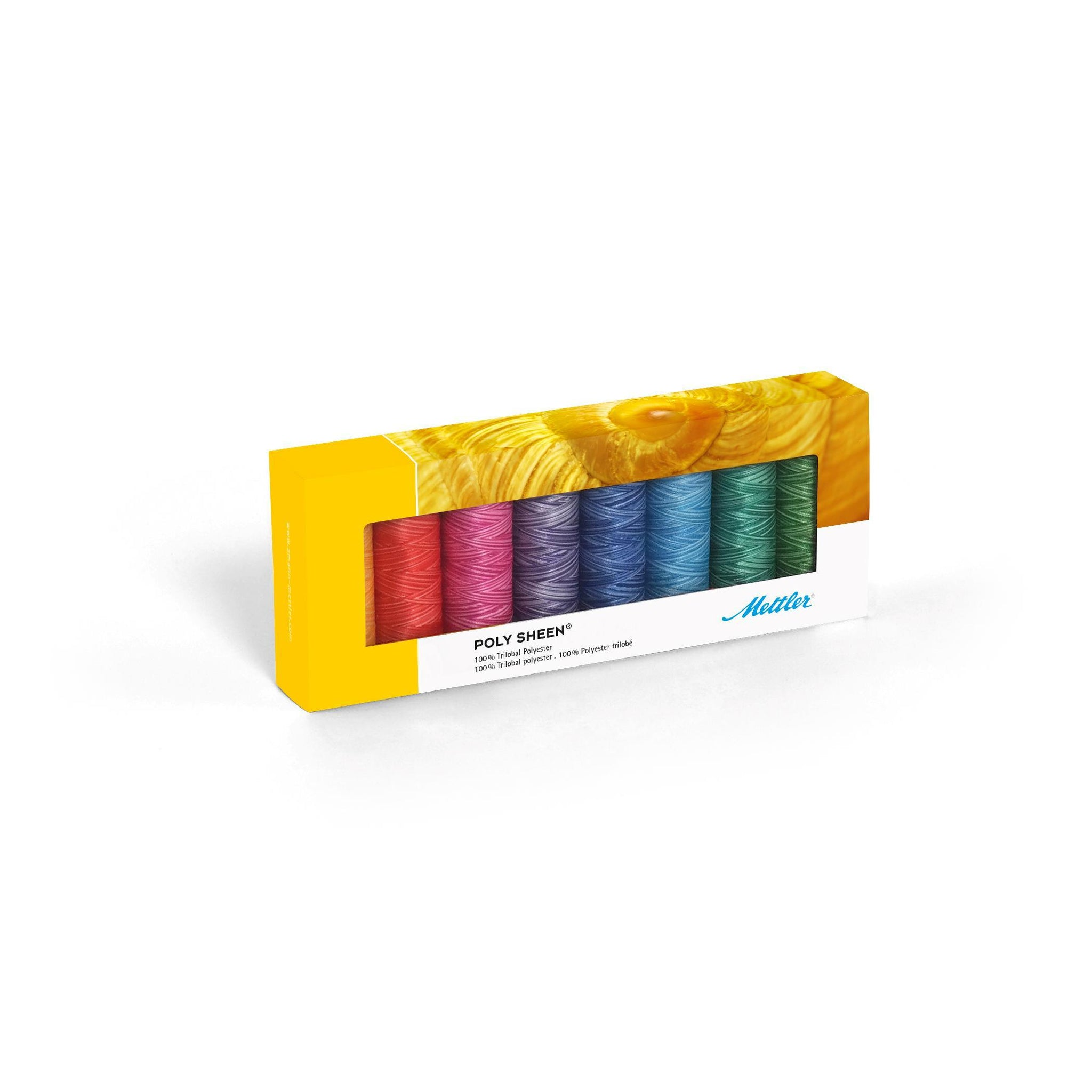 Mettler Poly Sheen Pastels Kit No. 40 200m 8 spools - thread set