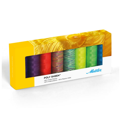Mettler Poly Sheen Neon Kit No. 40 200m 8 spools - thread set