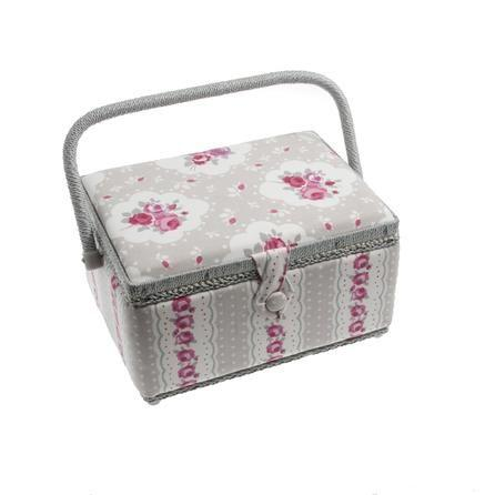 Vintage Sewing Craft Floral Storage Box