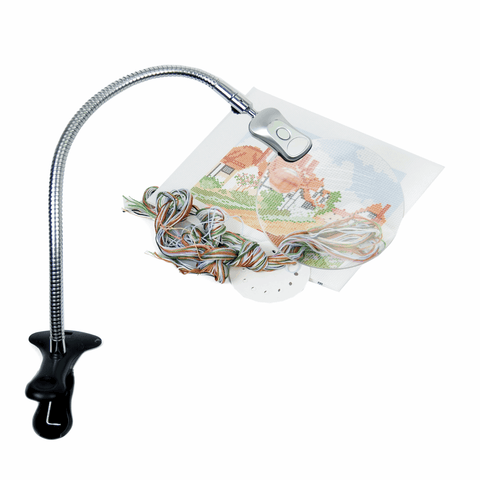 PURElite Large Magnifying Clip-on Lamp (2x magnification)
