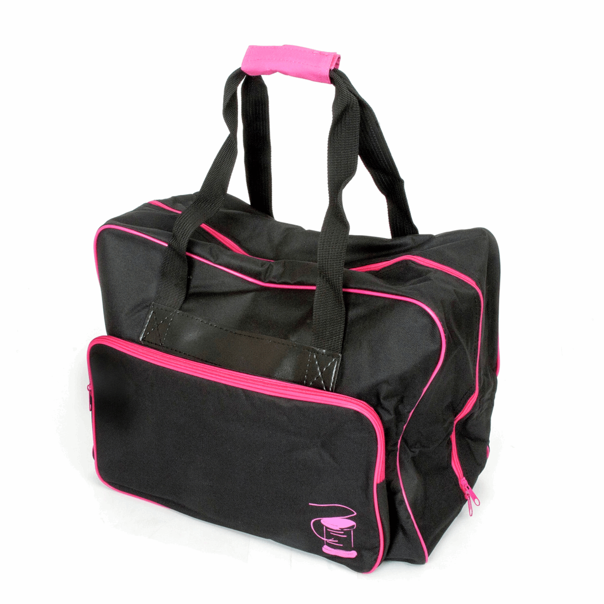 Black and Pink Sewing Machine Bag