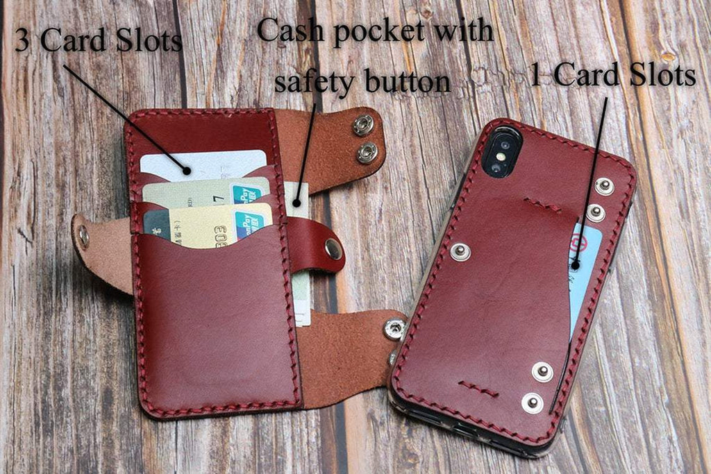 Handmade Leather Wallet Phone Case For Samsung Series