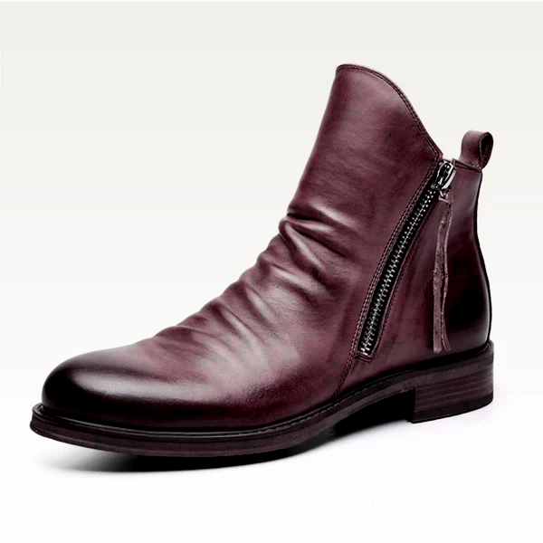Original Design Genuine Leather Retro Boots