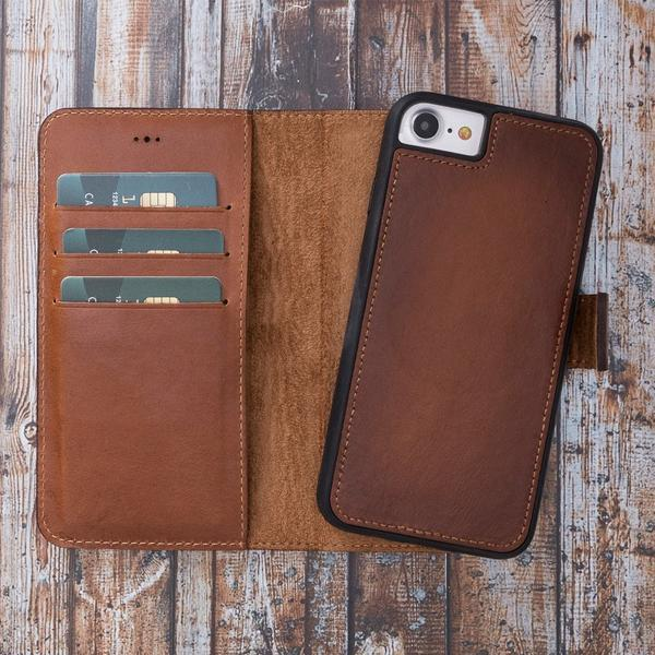 【Hurry, Limited Stocks Available!】Repairable oil wax cowhide -Wallet Phone Case For iPhone Series