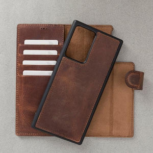 【Hurry, Limited Stocks Available!】Repairable oil wax cowhide -Wallet Phone Case For Samsung Series