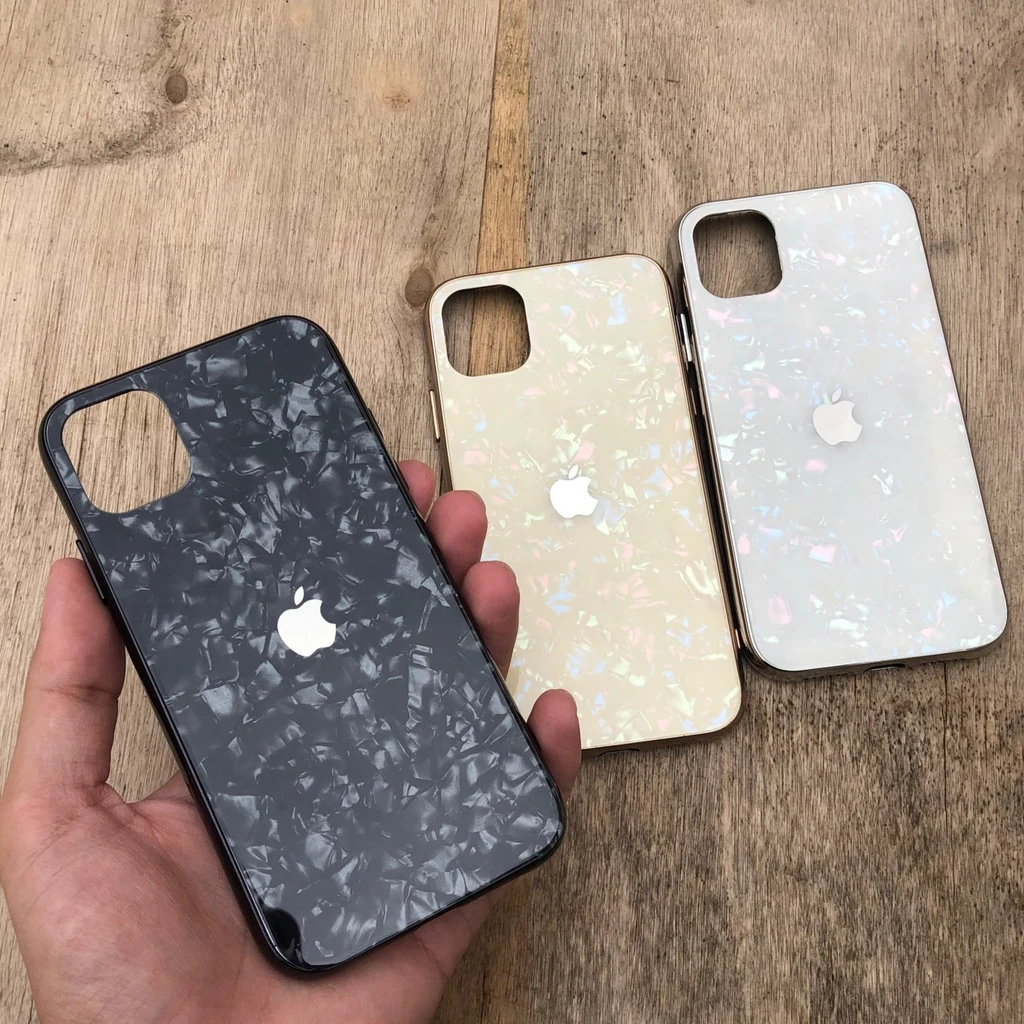 IPHONE MARBLE DESIGN REAL TEMPERED GLASS CASE