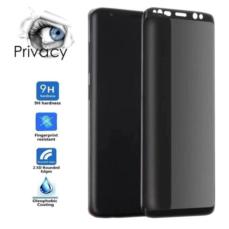 9H 3D Full Cover Screen Privacy Tempered Film For SAMSUNG Galaxy Note 8 9 10 S8 S9 S10 Plus