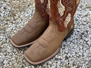 Men's Retro Tan Leather Boots