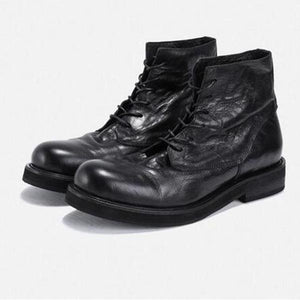Men's retro fashion lace-up ankle boots