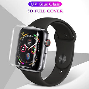 Lamorniea For Apple Watch 5 4 3 2 1 UV Tempered Glass Film For iWatch Series 38MM 40MM 42MM 44MM Screen Protector Protective Film