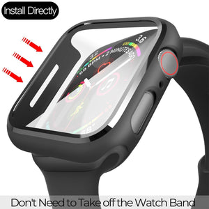 Full coverage matte hard case for Apple Watch 1 2 3 4 5