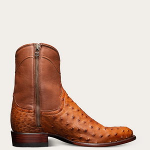 Men's Ostrich Zip-Up Boots