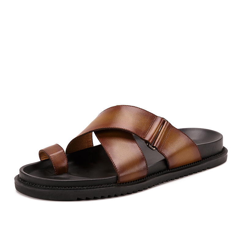 Outdoor Non-slip Casual Push In Toe Sandals