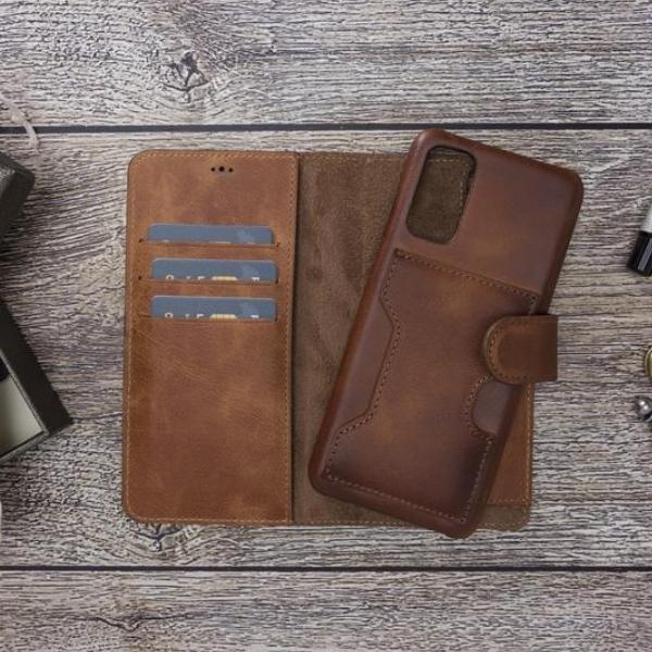 Handmake-Leather Wallet Case for Samsung Series