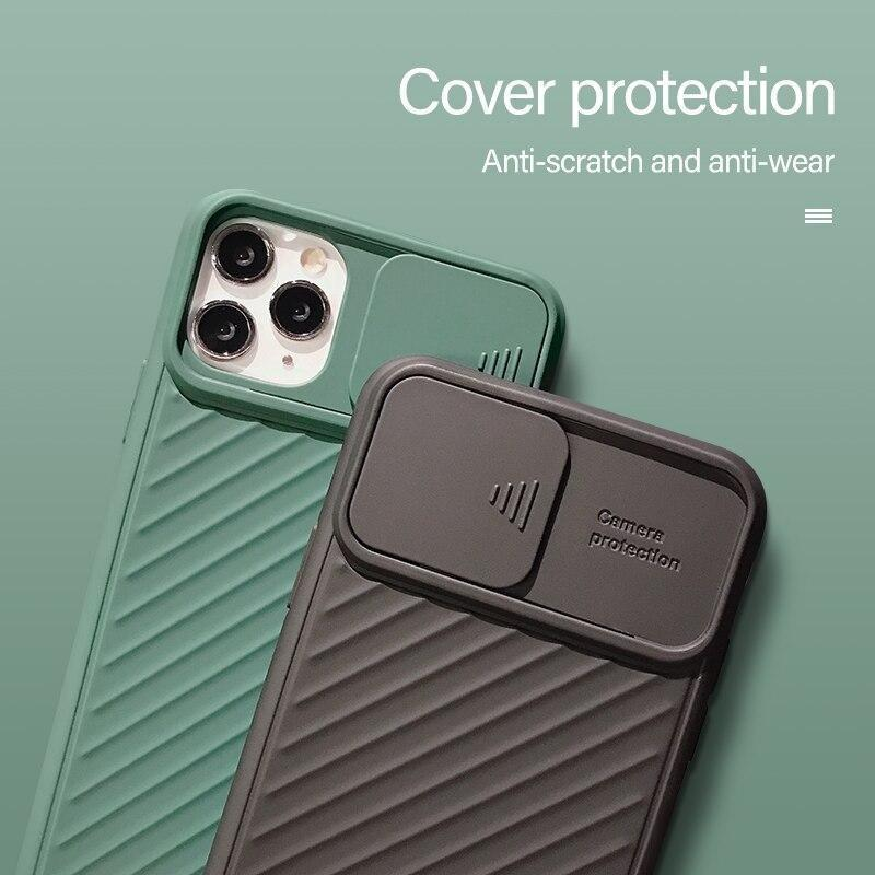 Slide Camera Protection Shockproof Phone Case For iPhone 11/X/8/7/6