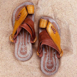 Men's Retro Summer Push Toe Beach Sandals