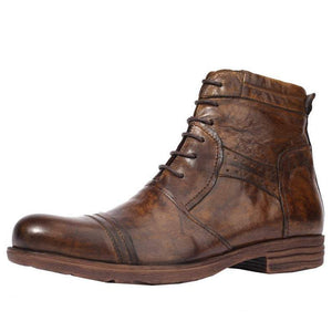 Martin boots thick-soled men's shoes / leather boots