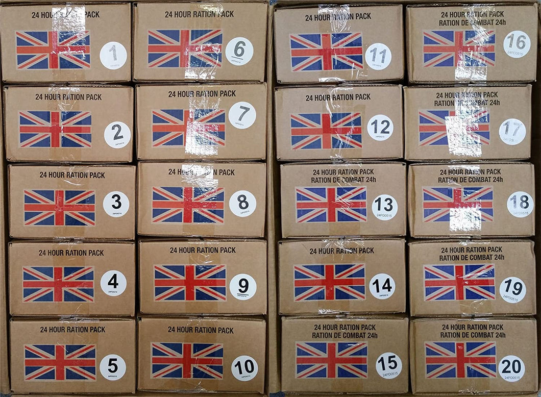 British Army 24h ORP Ration 02/19 pack date