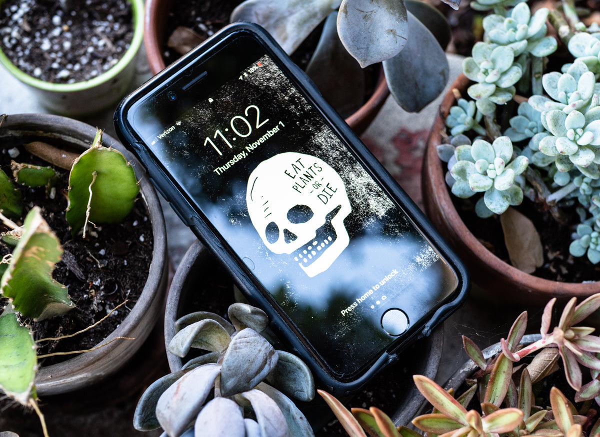 Eat Plants or Die Mobile Background