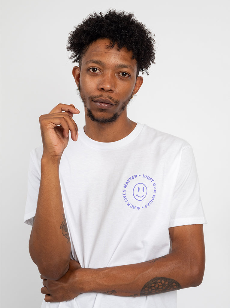 BLM - Dismantle Unisex Tee In White