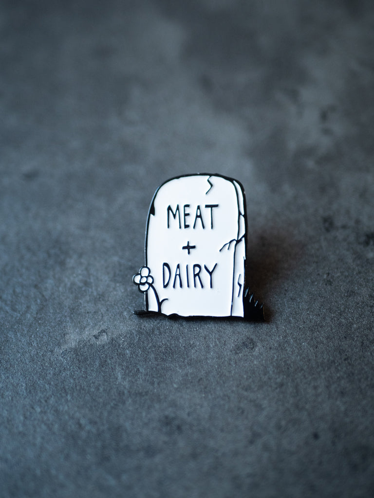 Meat+Diary Tombstone Pin