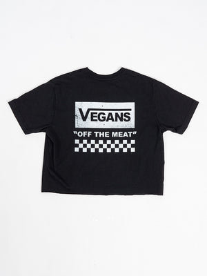 Off The Meat Crop Tee In Black